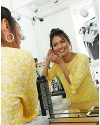 Miss Selfridge Spot Smock Midi Dress - Yellow