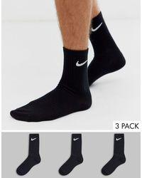 Nike Confezione da 3 paia di calzini neri - Nero