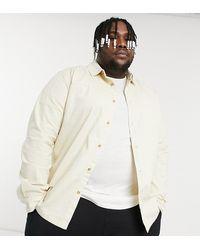 TOPMAN Big & Tall Twill Shirt - Natural