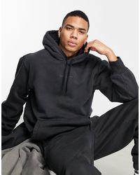 """adidas Originals Окрашенный Худи Черного Цвета """"premium Sweats""""-черный"""
