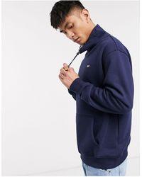 Tommy Hilfiger Flag Logo toggle Neck Sweatshirt - Blue