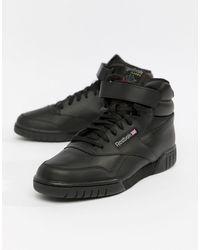 Reebok Ex-o-fit Hi Top Sneakers - Black