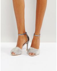 ALDO - Fiolla Faux Fur Heeled Sandals - Lyst