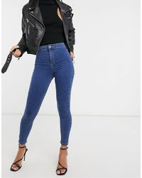 TOPSHOP Recycled Cotton Blend Joni Skinny Jeans - Blue