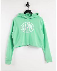 Kappa Pop Logo Crop Hoodie - Green