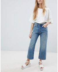 Cheap Monday - Mid Rise Straight Leg Jean - Lyst