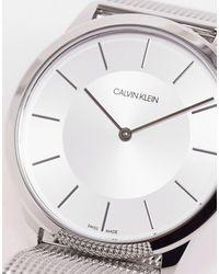 Calvin Klein Часы С Серебристым Сетчатым Браслетом -серебряный - Многоцветный