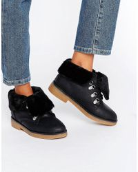 Blink - Crepe Faux Fur Lined Boots - Lyst