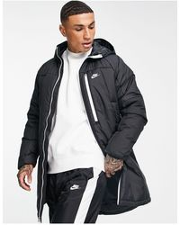 Nike Legacy Insulated Long Parka Coat - Black