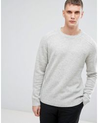 SELECTED - Knitted Jumper In 100% Lambswool - Lyst