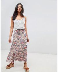 Raga Falda larga estampada Victoria de - Rosa