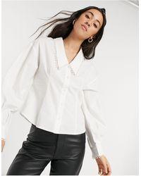 SELECTED Белая Рубашка С Воротником Femme-белый