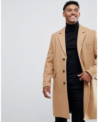 ASOS Wool Mix Overcoat - Multicolour