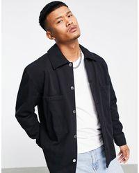 Weekday Черная Выбеленная Рубашка Навыпуск Bryant-черный Цвет