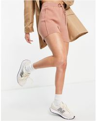 Mango - Knitted Shorts Co-ord - Lyst