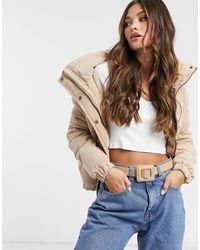 Brave Soul Вельветовая Дутая Куртка -коричневый