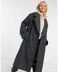 ASOS Oversized-пальто В Клетку «принц Уэльский» - Черный