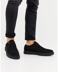 Truffle Collection Pointed Creeper Shoe - Black
