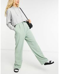 Stradivarius Wide Leg Relaxed Dad Trousers - Green