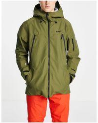 Planks Yeti Hunter Shell Ski Jacket - Green