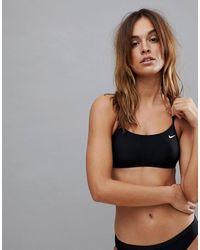 Nike Nike Swim Racerback Bikini Top In Black
