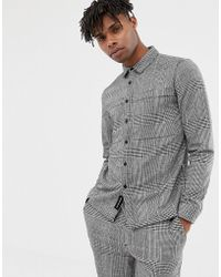 Native Youth Two-piece Checked Shirt - Black