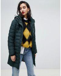 Esprit - Mid Padded Jacket With Hood - Lyst