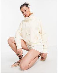 Rhythm – fleece-sweatshirt zum überziehen - Weiß