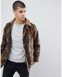 Barbour - Slim Fit Bedale In All Over Camo - Lyst