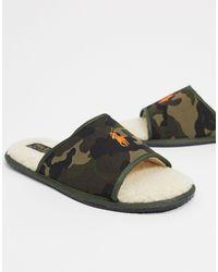 Ralph Lauren Polo Slider Slippers - Green