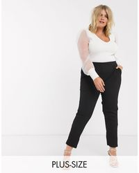 Simply Be Tapered Pants - Black