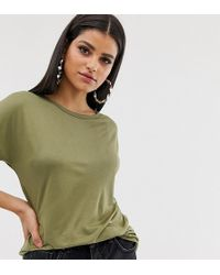 ASOS Asos Design Tall Formal Kimono T-shirt In Khaki - Green
