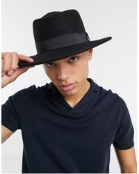 ASOS Wide Brim Pork Pie Hat - Black