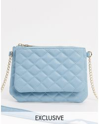 Glamorous Exclusive Cross Body Bag With Double Compartments - Blue
