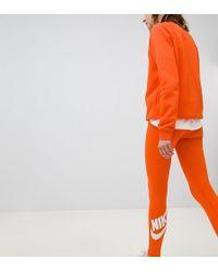Nike - Legasee Logo Leggings In Orange - Lyst
