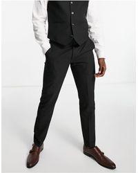 Original Penguin Pantaloni slim da abito a tinta unita - Nero