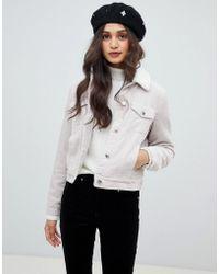 Miss Selfridge - Cord Trucker Jacket In Light Pink - Lyst