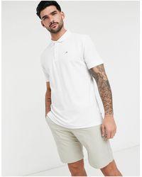Calvin Klein Хлопковая Футболка-поло Белого Цвета -белый