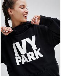 Ivy Park Sudadera con capucha extragrande en negro con logo