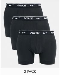 Nike Набор Из Трех Черных Боксеров -многоцветный - Черный