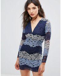 Oeuvre - Multicolour Lace Dress - Lyst