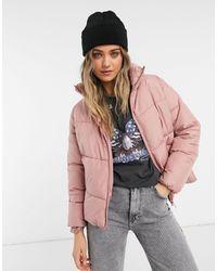 New Look - Бледно-розовая Свободная Куртка-пуховик -розовый Цвет - Lyst
