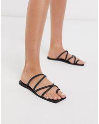 Missguided Square Toe Sandal - Black