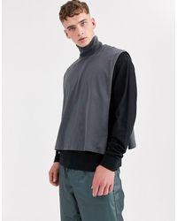 ASOS Plastron col roulé court décontracté en jersey - Noir délavé - Multicolore