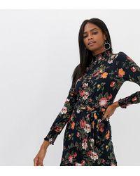 Oasis - Floral Knit Skater Dress - Lyst