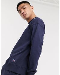 Russell Athletic Frank Sweatshirt With Small Logo - Blue