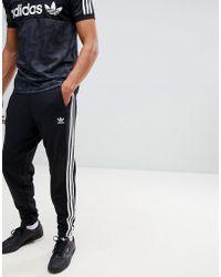 adidas Originals - Adicolor 3-stripe Joggers In Black Cw2981 - Lyst
