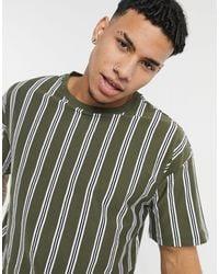 New Look – Oversize-T-Shirt - Grün