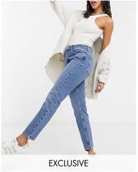 Reclaimed (vintage) The 90s - Jeans dritti lavaggio medio stone wash - Blu