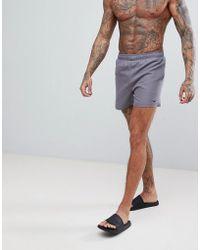 Nike - Volley Super Short Swim Short In Grey Ness8509-071 - Lyst